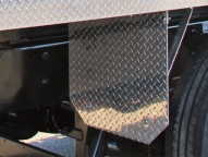 Optional steel or Tread Brite aluminum gravel guards.