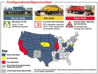 *This map to be used as a guideline. Check with your state and local Department of Transportation for your specific requirements.